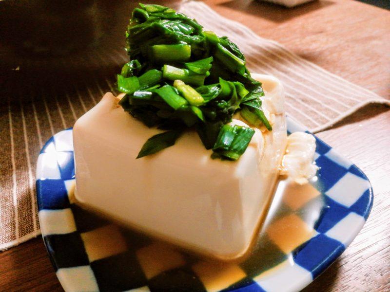 ニラ豆腐の画像