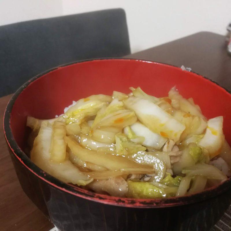 ラー油酢白菜丼の画像
